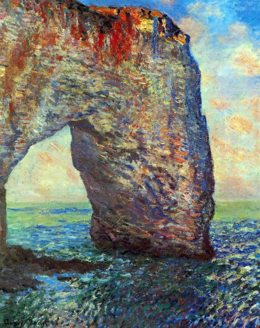 The rocky cliffs of Étretat (La Porte man) [2] - Monet